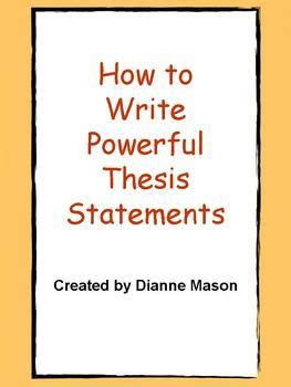 Three Part Thesis Statement Examples